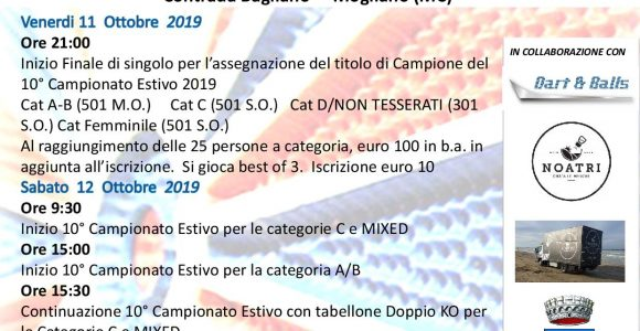 10° CAMPIONATO ESTIVO FINALE